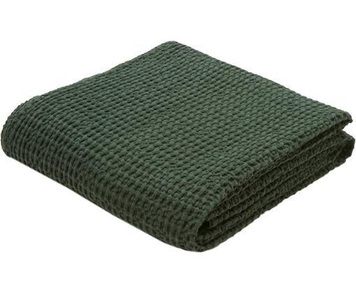 Baumwoll-Tagesdecke Tempy mit strukturierter Oberfläche, Baumwolle, Grün, 180 x 260 cm