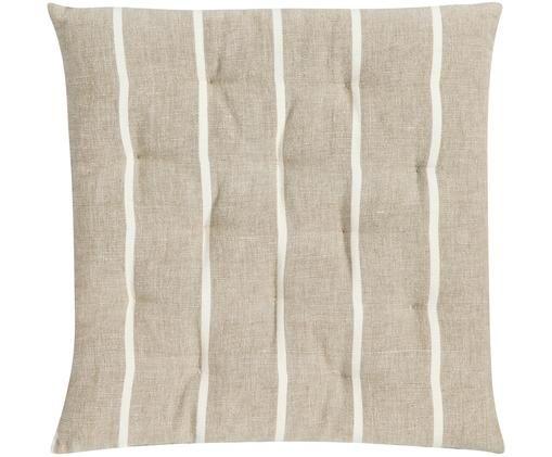 Sitzkissen Even, Hülle: Baumwolle, Beige, gebrochenes Weiß, 40 x 40 cm