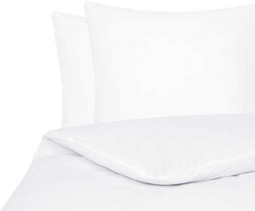 Einfarbige Flanell-Bettwäsche Biba in Weiß, Weiß