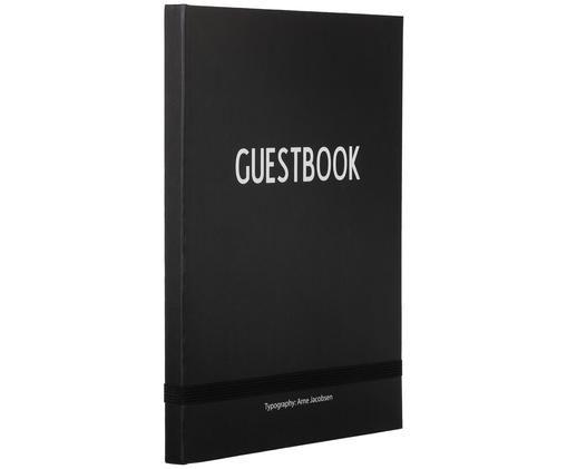 Libro degli ospiti Guest, Nero, bianco, L 19 x A 25 cm