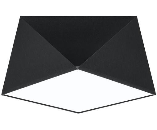 Deckenleuchte Clarity, Kunststoff (PVC), Schwarz, Ø 30 x H 15 cm