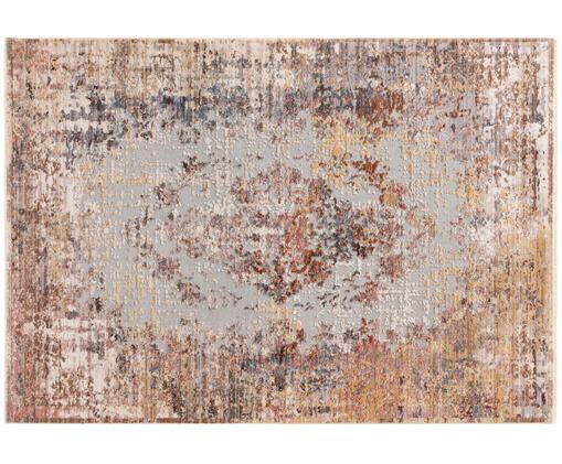 Alfombra Valencia, Parte superior: poliéster, Reverso: 70%algodón, 30%poliéste, Tonos beiges, marrones y grises, An 120 x L 170 cm (Tamaño S)