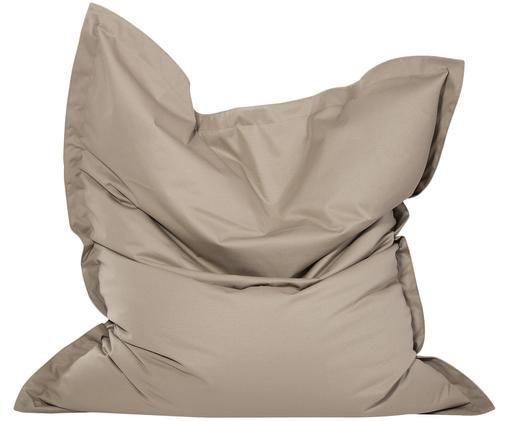 Großer Sitzsack Meadow, Bezug: Polyester, polyurethanbes, Schlammgrau, 130 x 160 cm