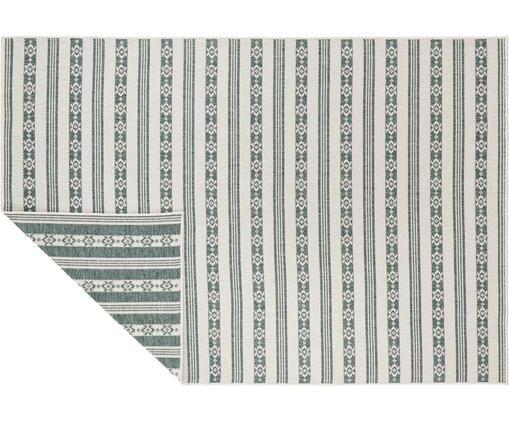 In- & Outdoor Wendeteppich Fiji, Polypropylen, Grün, Cremefarben, B 160 x L 230 cm (Größe M)
