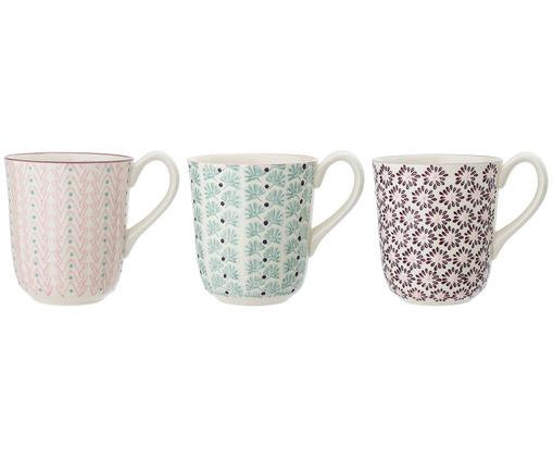 Tassen-Set Maya, 3-tlg., Weiß, Grün, Rosa, Lila