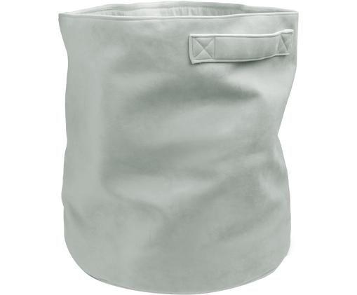 Kosz do przechowywania z aksamitu Velvet Deluxe, Aksamit bawełniany, Szarozielony, Ø 42 x W 46 cm