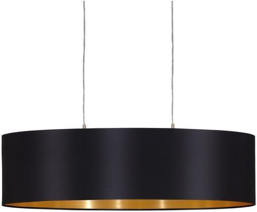 Hanglamp Jamie, Zilverkleurig, zwart