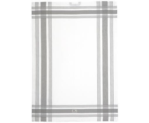 Strofinaccio Hotel Framed, Bianco, grigio