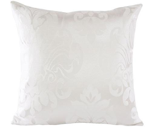 Housse de coussin avec ornements Clothilde, Blanc