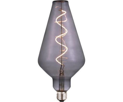 Lampadina a LED dimmerabile Colors Cone (E27 / 4Watt), Vetro, metallo rivestito, Grigio trasparente, Ø 13 x Alt. 23 cm