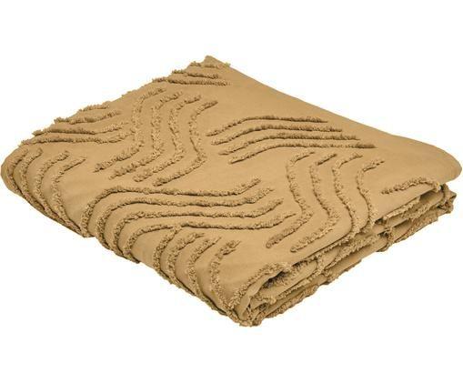 Tagesdecke Jalisco, Baumwolle, Senfgelb, 240 x 260 cm