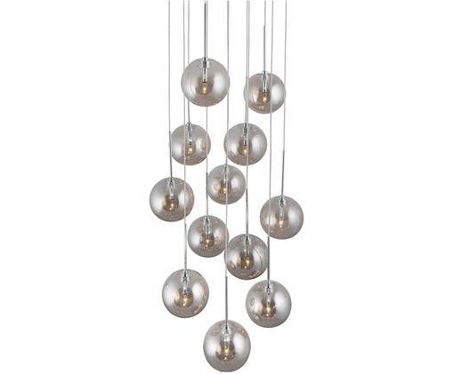 Lampa wisząca Skyfall, Szary, chrom, Ø 30 x W 33 cm