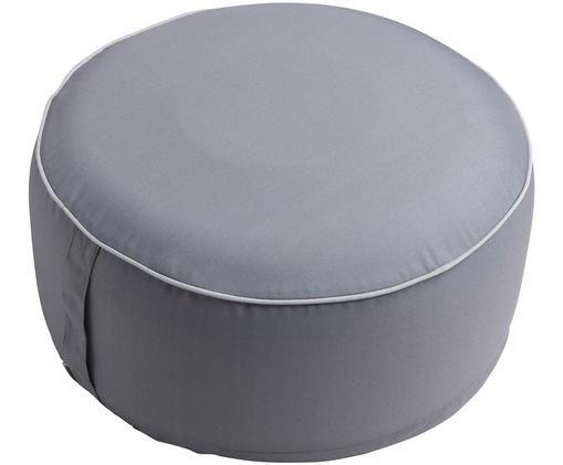 Aufblasbarer Pouf Maxime, Bezug: Polyester, UV-beständig, Dunkelgrau, Weiß, Ø 55 x H 25 cm