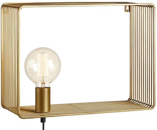 Applique Shelf con spina, Metallo, Ottonato, Larg. 38 x Alt. 28 cm