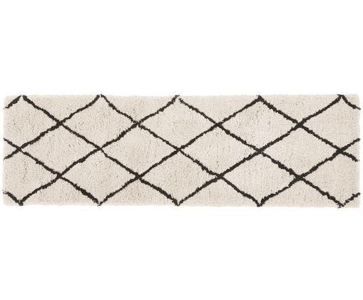 Ręcznie tuftowany chodnik Naima, Beżowy, czarny, S 80 x D 250 cm