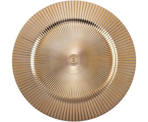 Platzteller Elegance in Gold und mit Rillen