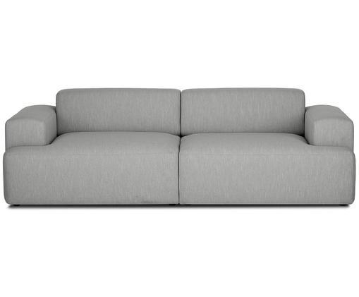 Sofa Marshmallow (3-Sitzer), Bezug: Polyester 35.000 Scheuert, Gestell: Massives Kiefernholz, Spa, Füße: Kiefernholz, Webstoff Grau, B 240 x T 101 cm