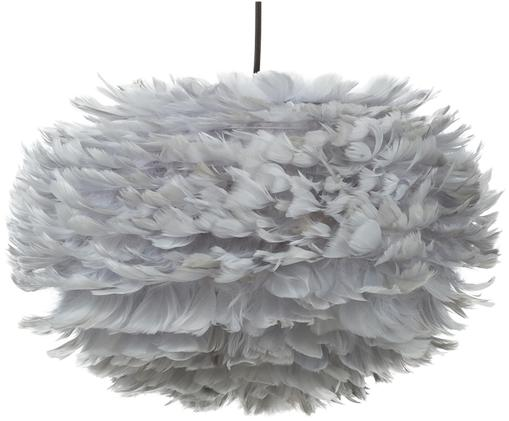 Suspension en plumes grises Eos, Gris clair