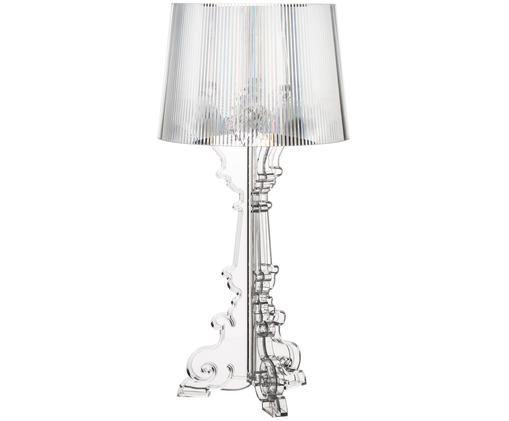 Große Tischleuchte Bourgie, Polykarbonat, Transparent, Ø 37 x H 78 cm