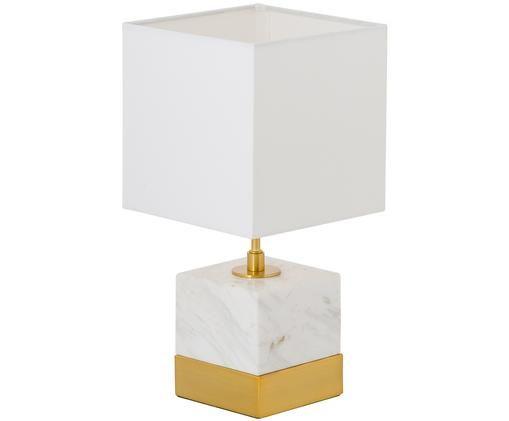 Lampada da tavolo Romy, Dorato , bianco
