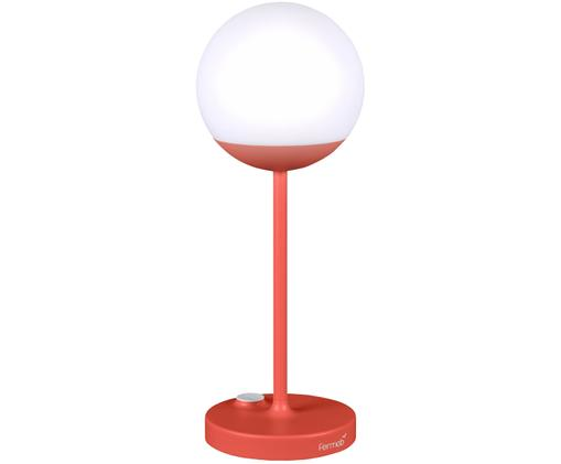 Lampada portatile a LED da esterno Mooon, Paralume: materiale sintetico, Rosso, Ø 15 x Alt. 41 cm