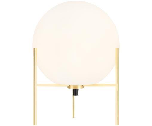 Lampada da tavolo Alton, Base della lampada: ottone, Ottone, bianco, Ø 20 x Alt. 29 cm