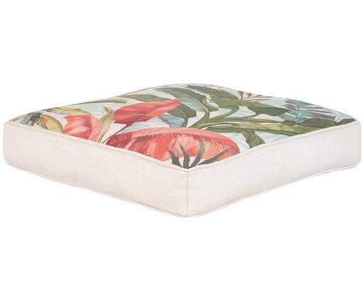 Cojín de asiento Marbless, Funda: algodón, Multicolor, An 40 x L 40 cm