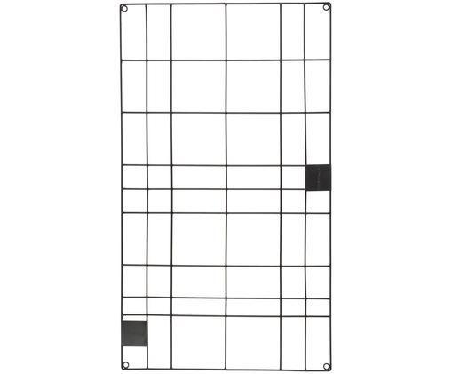 Gitter-Pinnwand Memo, Metall, Schwarz, 60 x 105 cm
