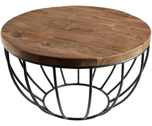 Table basse ronde en teck Sixtine