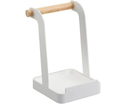 Portautensili da cucina Tosca, Manico: legno, Bianco, legno, Larg. 11 x Alt. 16 cm