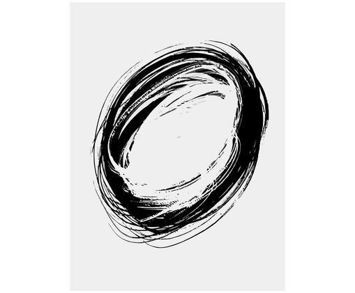 Poster Swirl, Nero, bianco