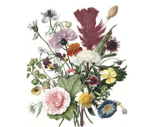 Adesivo murale Wild Flowers, Multicolore