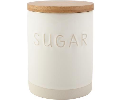 Boîte de rangement Sugar, Blanc, beige