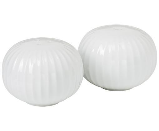 Designer Salz- und Pfefferstreuer Hammershøi aus Keramik, 2er-Set, 100% Keramik, glasiert, Weiß, Ø 6 x H 4 cm