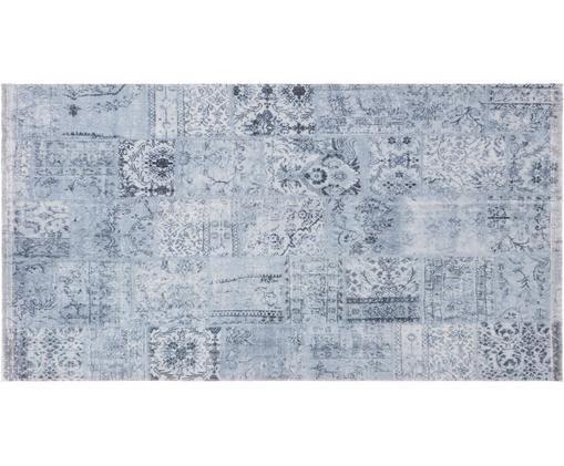 Teppich Pina, Flor: 60% Polyester, 40% Baumwo, Blaugrau, B 80 x L 150 cm (Größe XS)