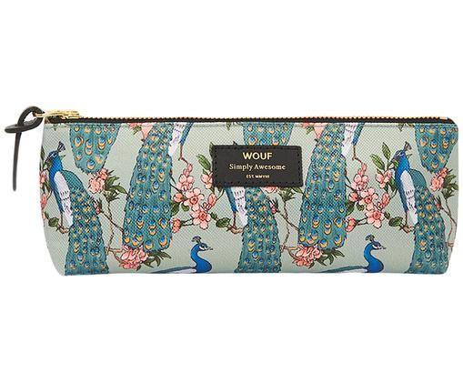 Stifte-Etui Royal Forest, Polyester, Leder, Mintgrün, Mehrfarbig, 22 x 9 cm