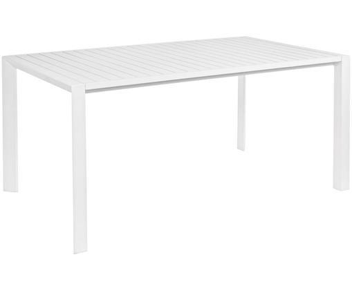 Tuintafel Davin, Gepoedercoat en corrosiebestendig aluminium, Wit, B 160  x D 90 cm
