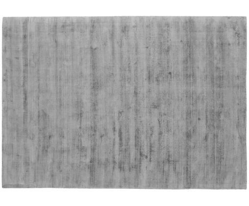 Ręcznie tkany dywan z wiskozy Jane, Szary, matowy, S 160 x D 230 cm (Rozmiar M)