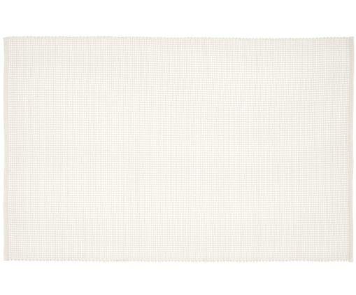 Handgewebter Wollteppich Amaro, 38% Wolle, 22% Polyester, 20% Baumwolle, 20% Polyamid, Cremeweiss, B 120 x L 180 cm (Grösse S)