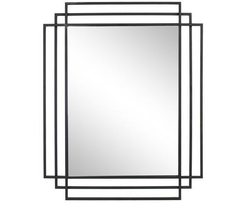Lustro ścienne Blade, Czarny, S 77 x W 97 cm
