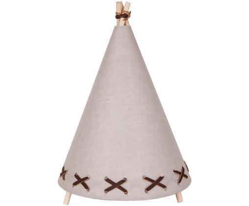 Lampe à poser LED en lin Tipi