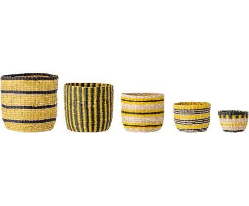 Súprava úložných košov Shine, 5 dielov, Žltá, čierna, béžová