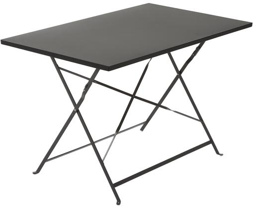 Klappbarer Gartentisch Alrick aus Metall, Metall, pulverbeschichtet, Dunkelgrau, B 110 x T 70 cm