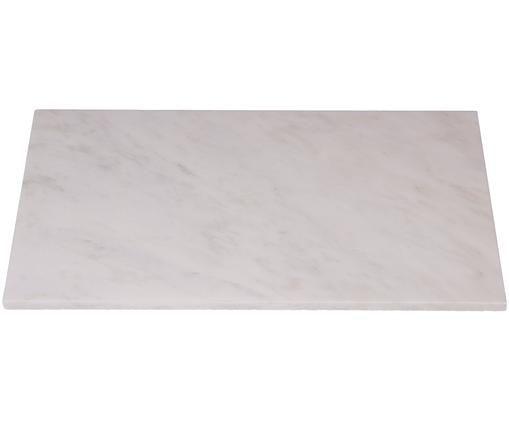 Marmor-Servierplatte Marbre, Marmor, Weiß, B 45 x T 30 cm