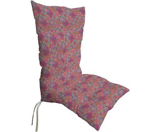 Cojín para silla con respaldo Mixture, Funda: fibra acrílica con teflon, Multicolor, An 50 x L 123 cm