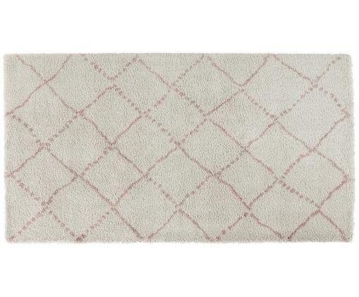 Tappeto in polipropilene Hash, Color crema, rosa