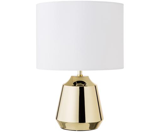 Tafellamp Tiffany, Wit, goudkleurig