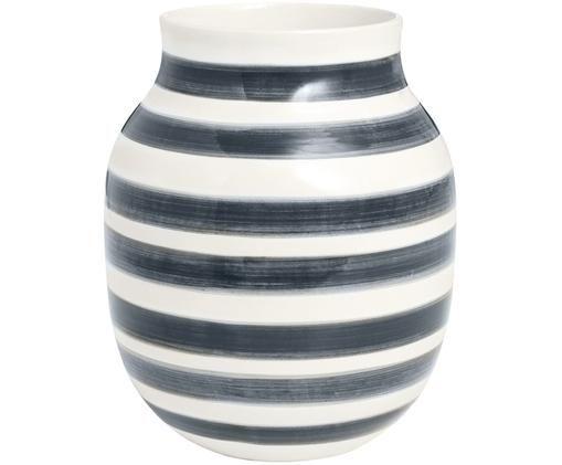 Vaso Omaggio fatto a mano, di medie dimensioni, Grigio, bianco