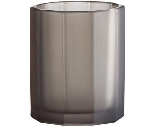 Vaas Plisa, Glas, Mat grijs, Ø 8 x H 10 cm
