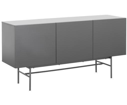 Dressoir Anders, Frame: gelakt MDF, Poten: gepoedercoat metaal, Frame: grijs. Poten: mat grijs, 160 x 80 cm